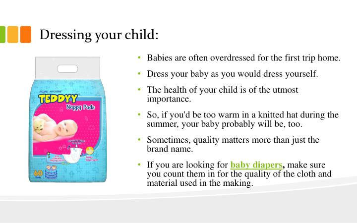 Dressing your child