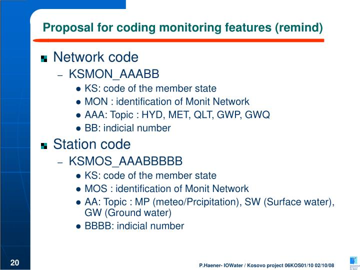 Proposal for coding monitoring features (remind)