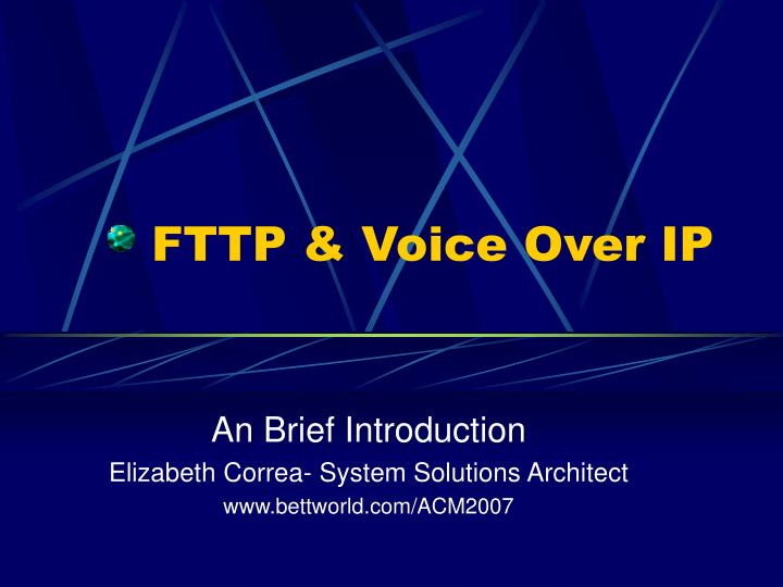 fttp voice over ip n.