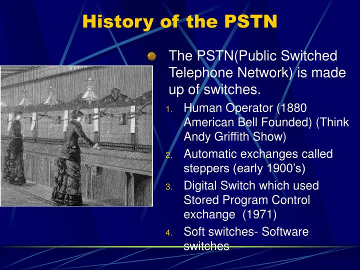 History of the PSTN