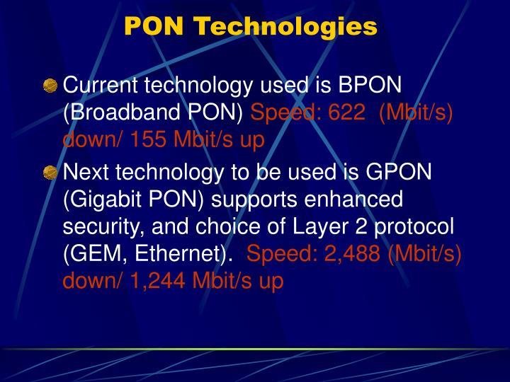PON Technologies