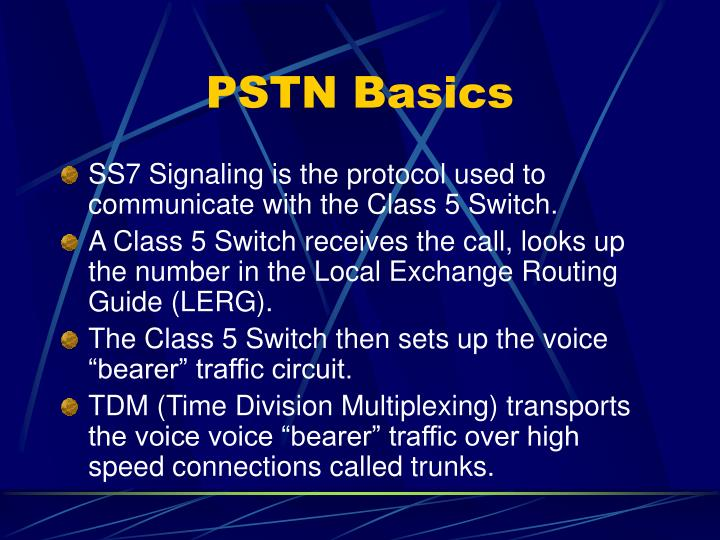 PSTN Basics
