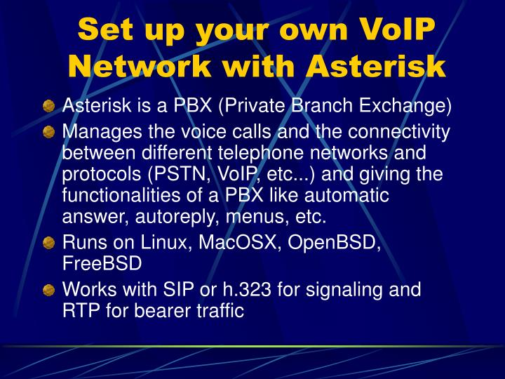 Set up your own VoIP Network with Asterisk
