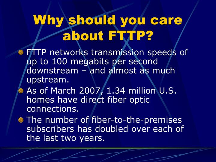 Why should you care about FTTP?