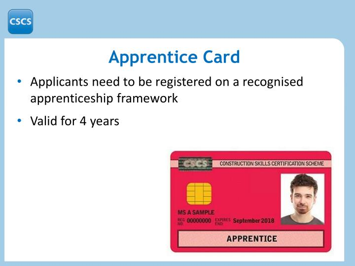 Apprentice Card