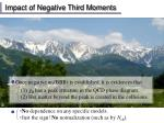 impact of negative third moments