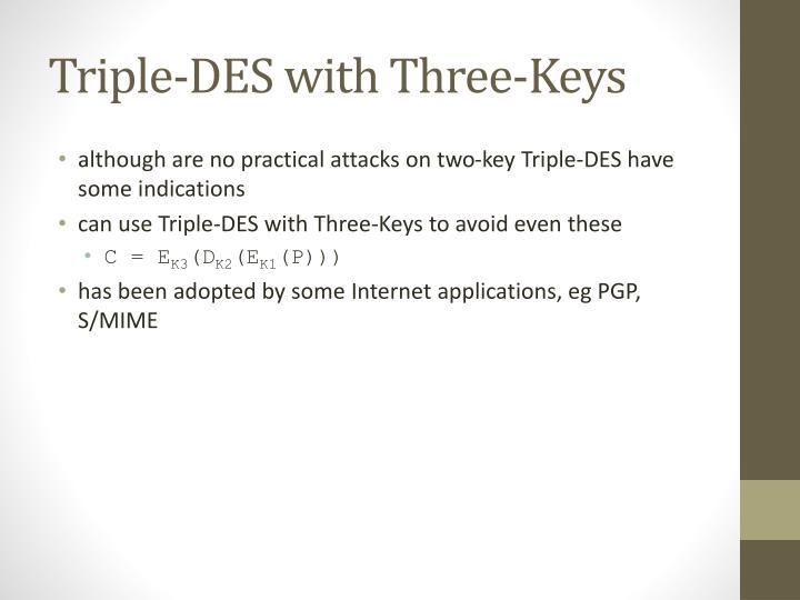 Triple-DES with
