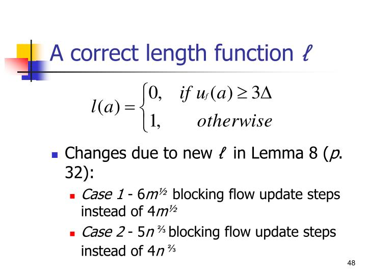 A correct length function