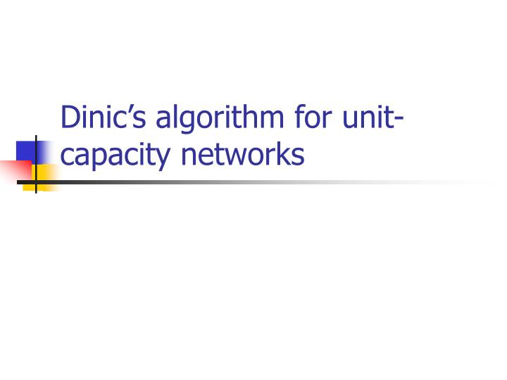 Dinic's algorithm for unit-capacity networks