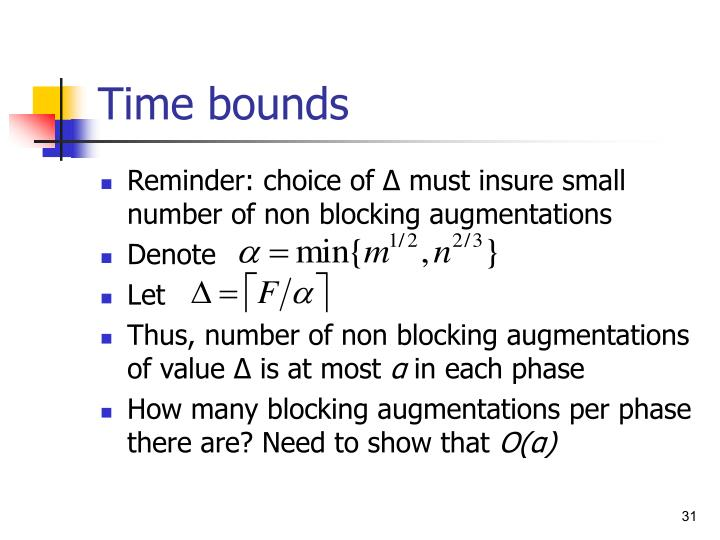 Time bounds