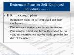 retirement plans for self employed individuals slide 1 of 2
