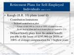 retirement plans for self employed individuals slide 2 of 2