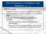 tax consequences to employee and employer slide 7 of 10