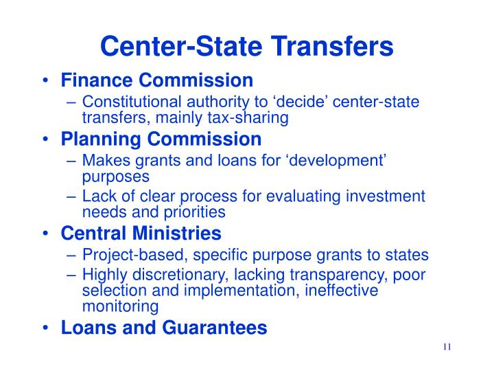 Center-State Transfers