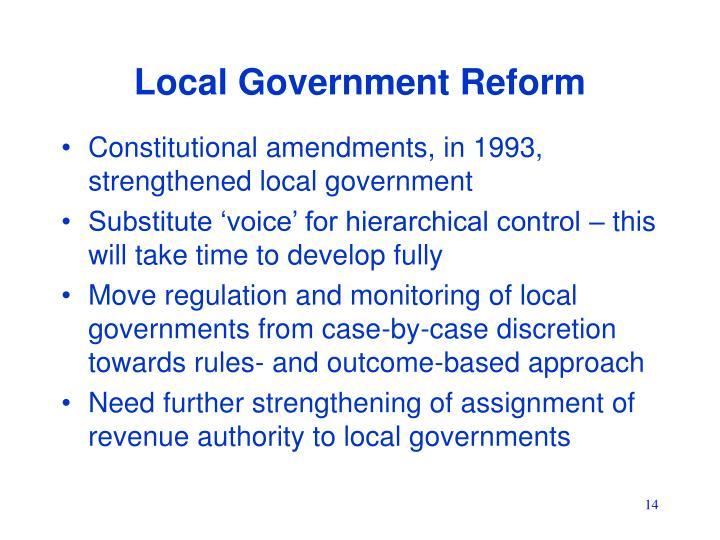 Local Government Reform