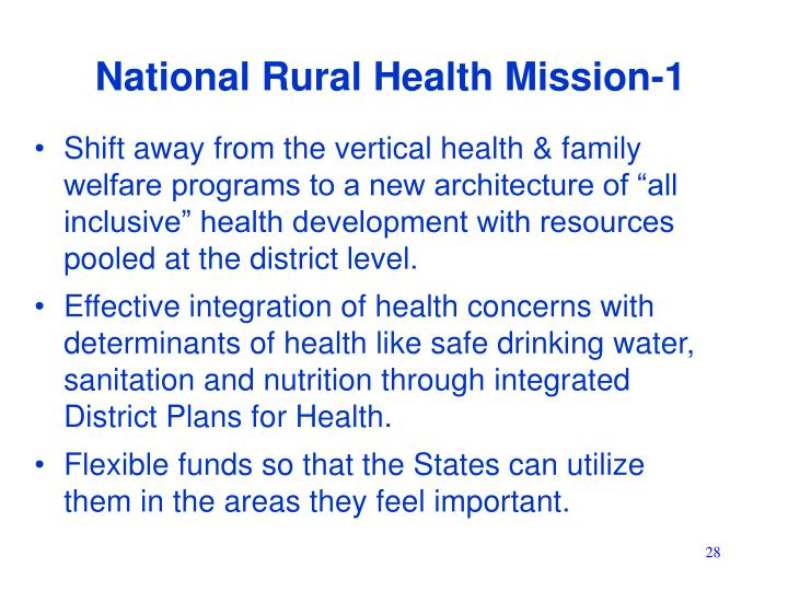 National Rural Health Mission-1