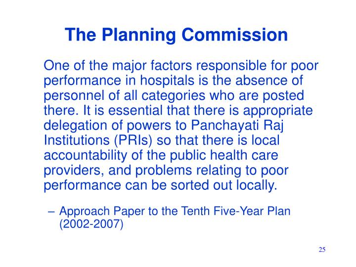 The Planning Commission