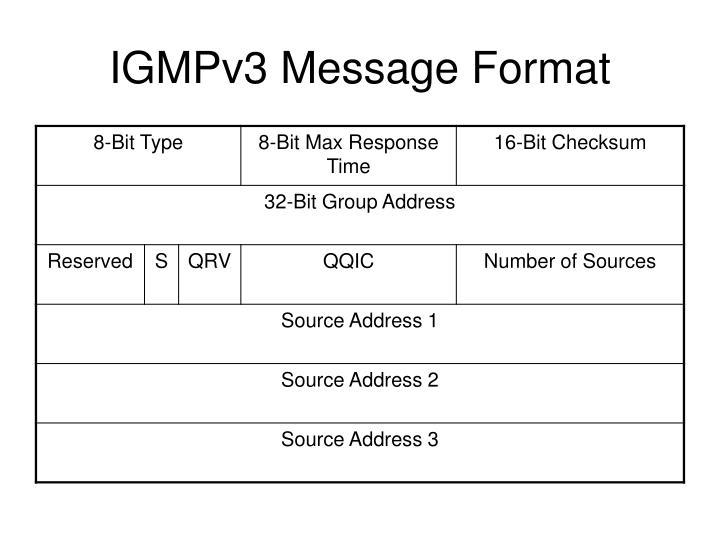 IGMPv3 Message Format