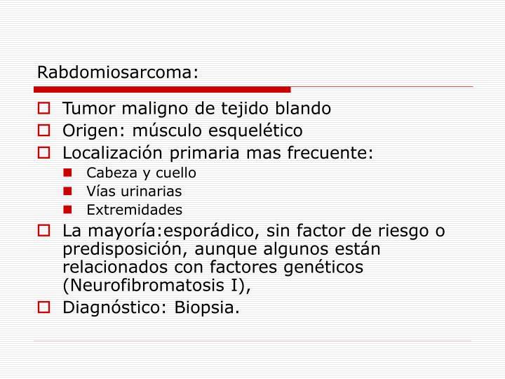 Rabdomiosarcoma: