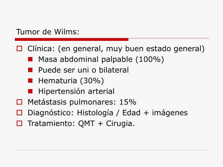 Tumor de Wilms: