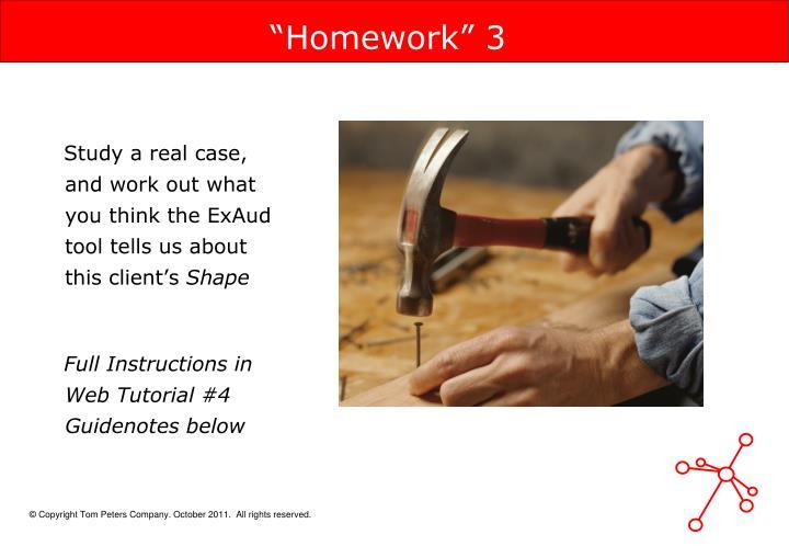 """""""Homework"""" 3"""