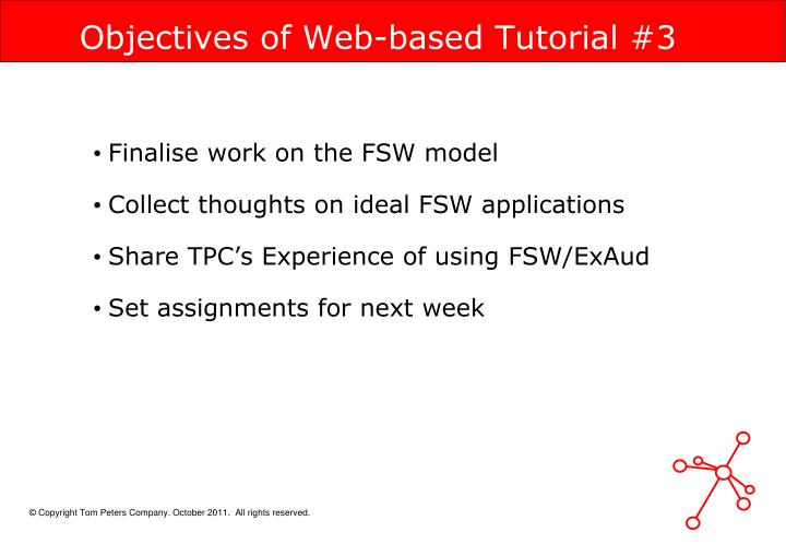 Objectives of Web-based Tutorial #3