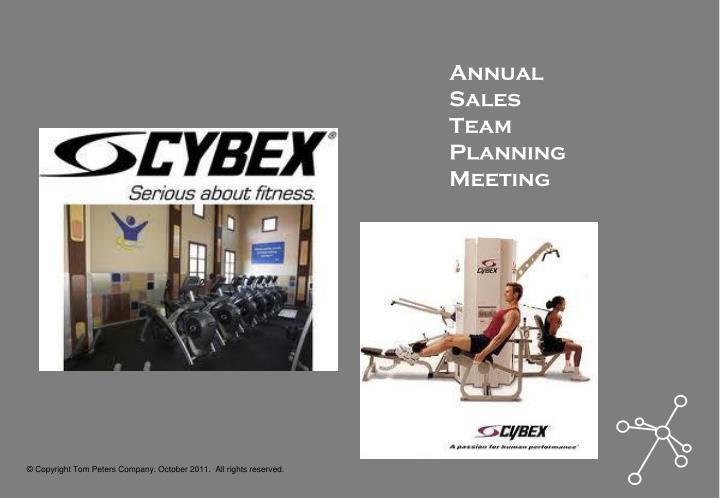 Annual Sales Team Planning Meeting