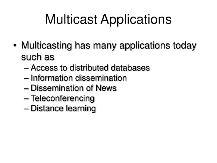 Multicast Applications