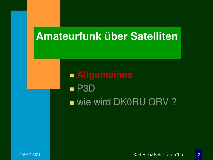 Amateurfunk ber satelliten1