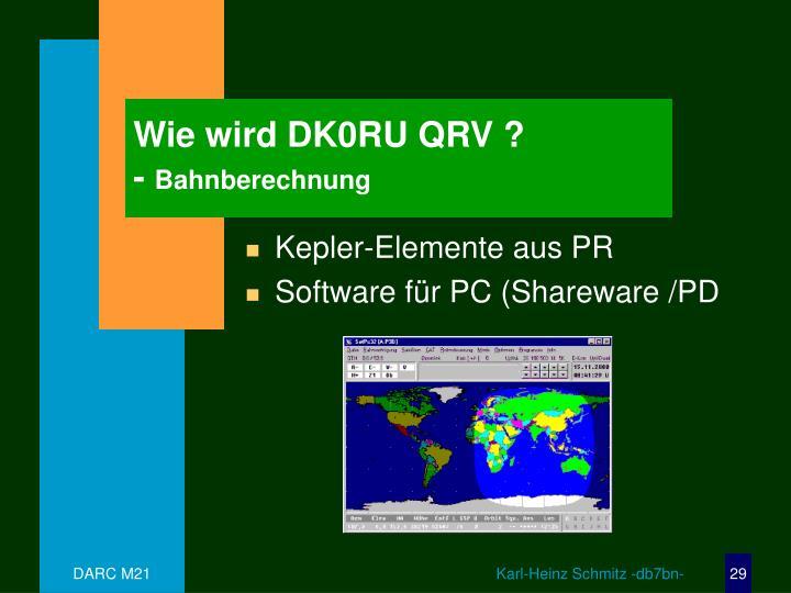 Wie wird DK0RU QRV ?