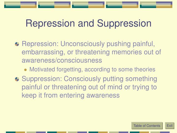 Repression and Suppression