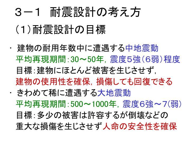 3-1 耐震設計の考え方