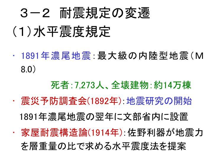 3-2 耐震規定の変遷