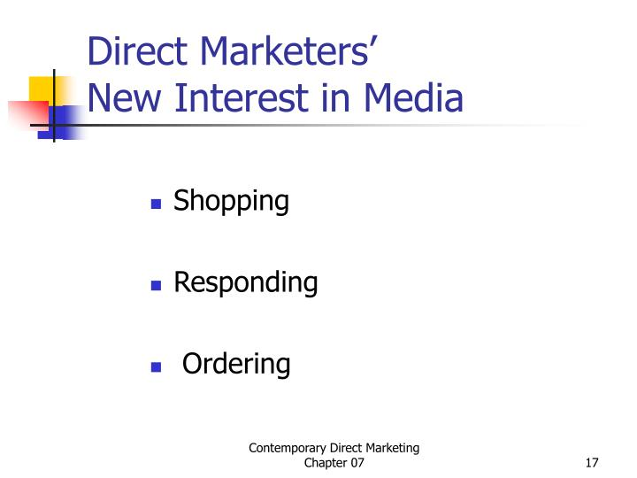 Direct Marketers'