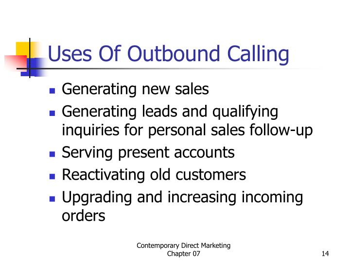 Uses Of Outbound Calling