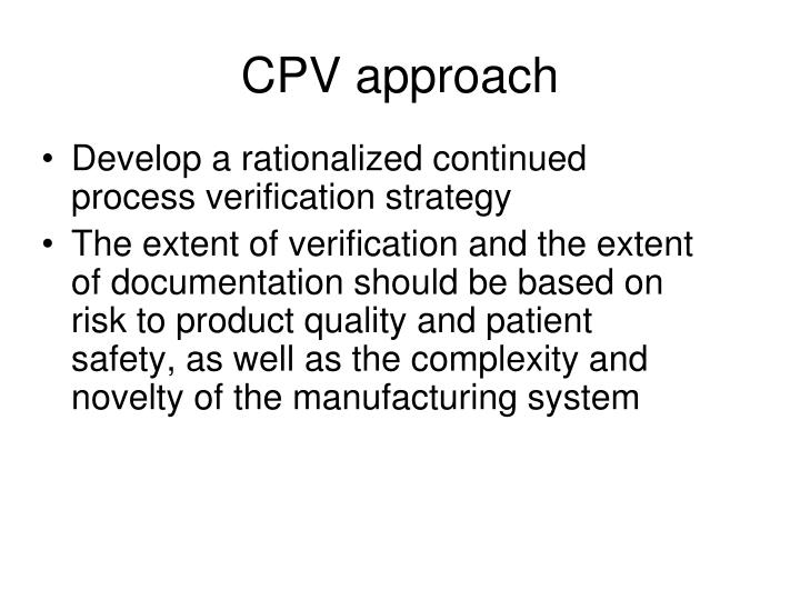CPV approach