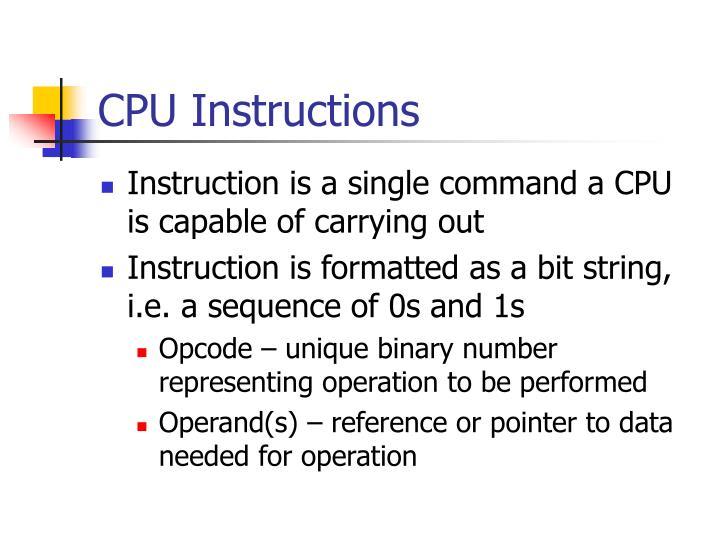 CPU Instructions