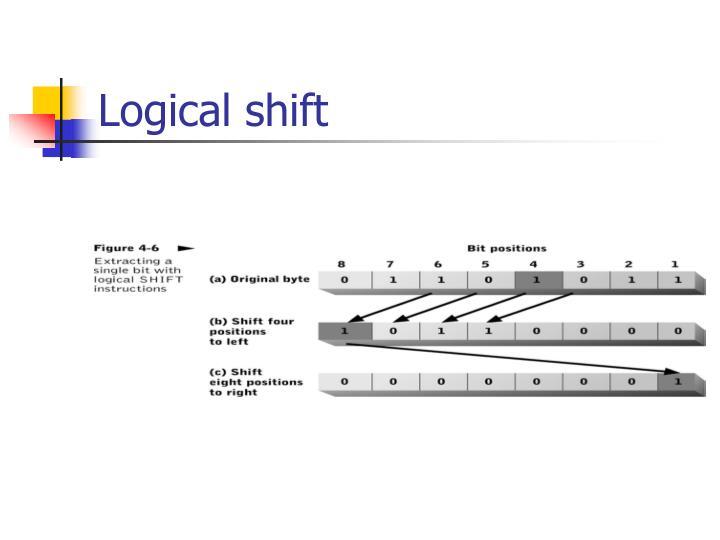 Logical shift