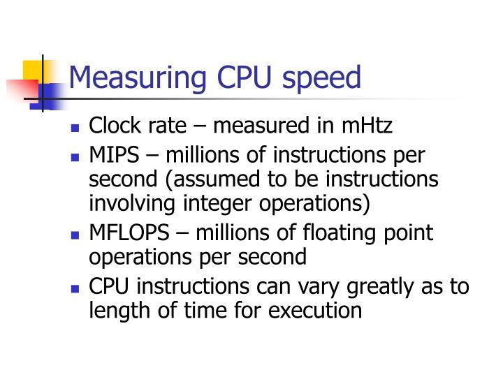 Measuring CPU speed