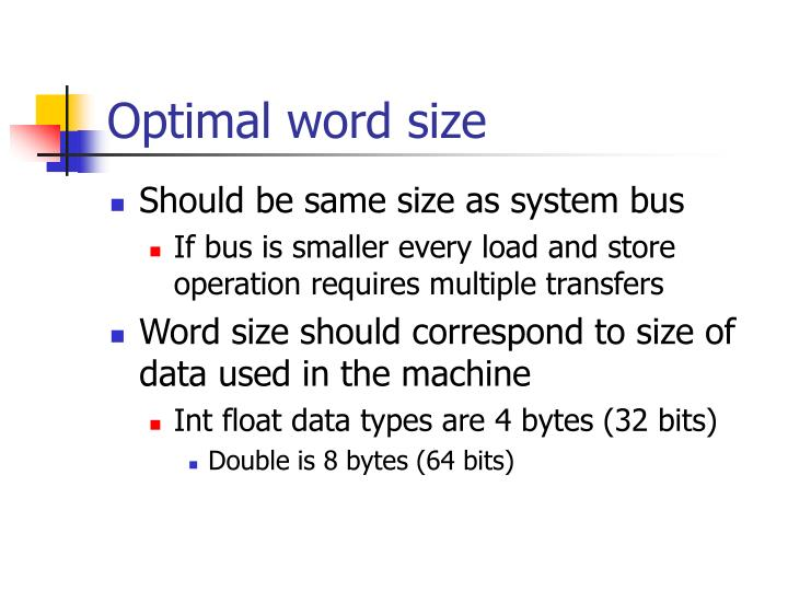 Optimal word size