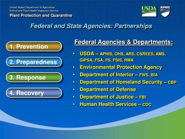 Federal Agencies & Departments: