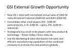 gsi external growth opportunity