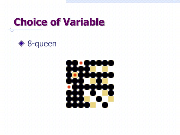 Choice of Variable