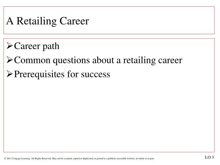 A Retailing Career
