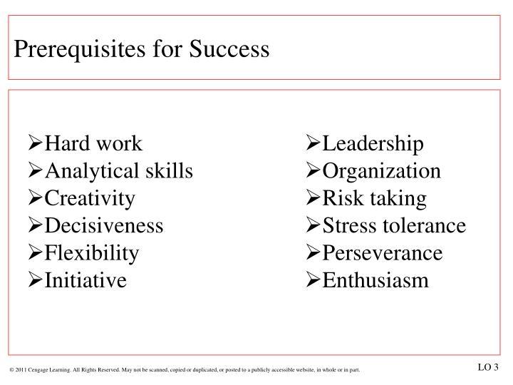 Prerequisites for Success