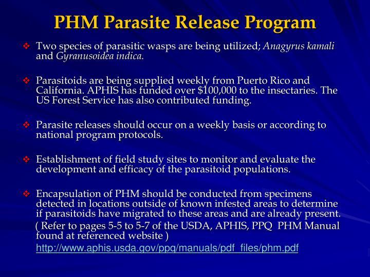 Phm parasite release program