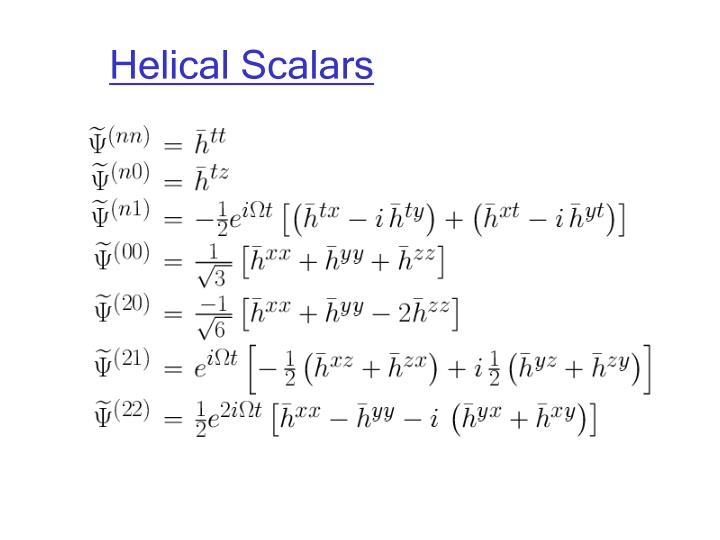 Helical Scalars