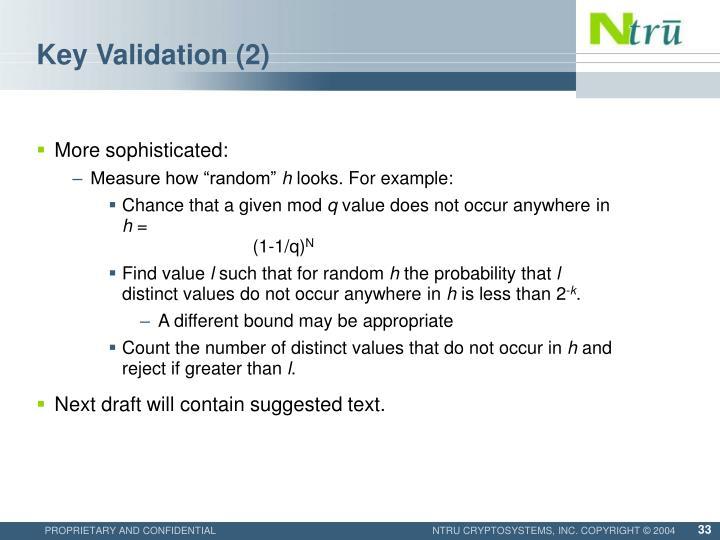 Key Validation (2)