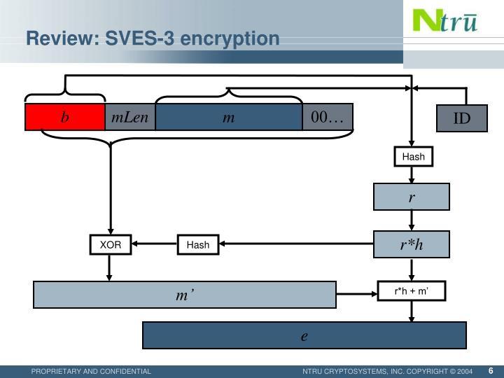 Review: SVES-3 encryption