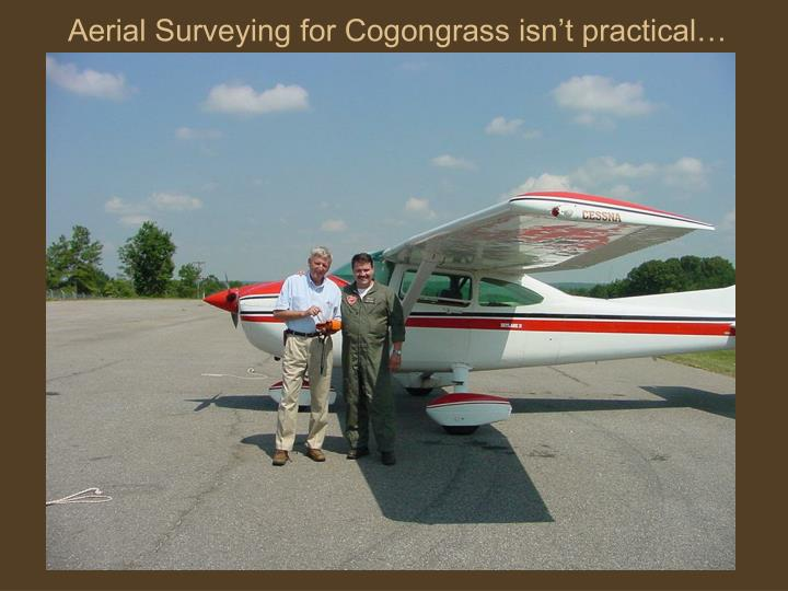 Aerial Surveying for Cogongrass isn't practical…